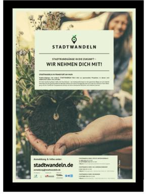 STADTWANDELN-Poster